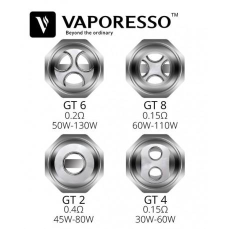 Résistances NRG GT4 - GT8 Core 0.15Ω - Vaporesso - Svapo Shop