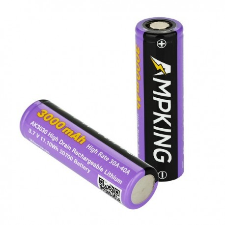 Accus AK3030 20700 3000 mAh 40A Ampking - Svapo Shop