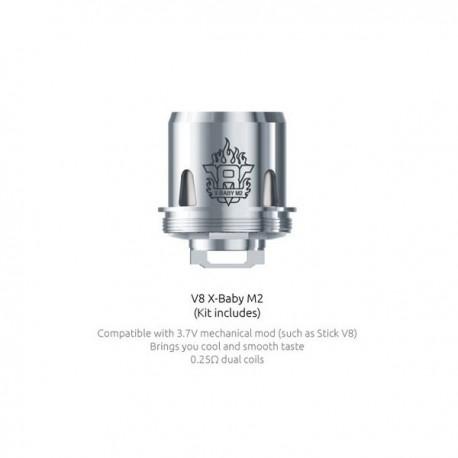 Résistances TFV8 X Baby-M2 (0.25) Smok - Svapo Shop