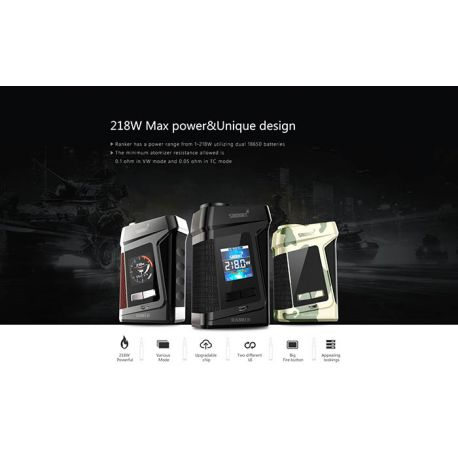 RANKER BOX MOD 218W - SMOANT - SVAPO SHOP